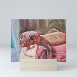Patternless Leopard Gecko Mini Art Print
