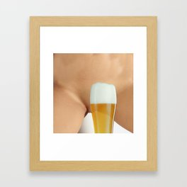 Beer and Naked Woman Framed Art Print