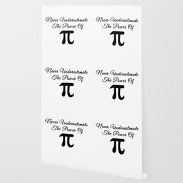 Never underestimate the power of Pi calligraphy Wallpaper