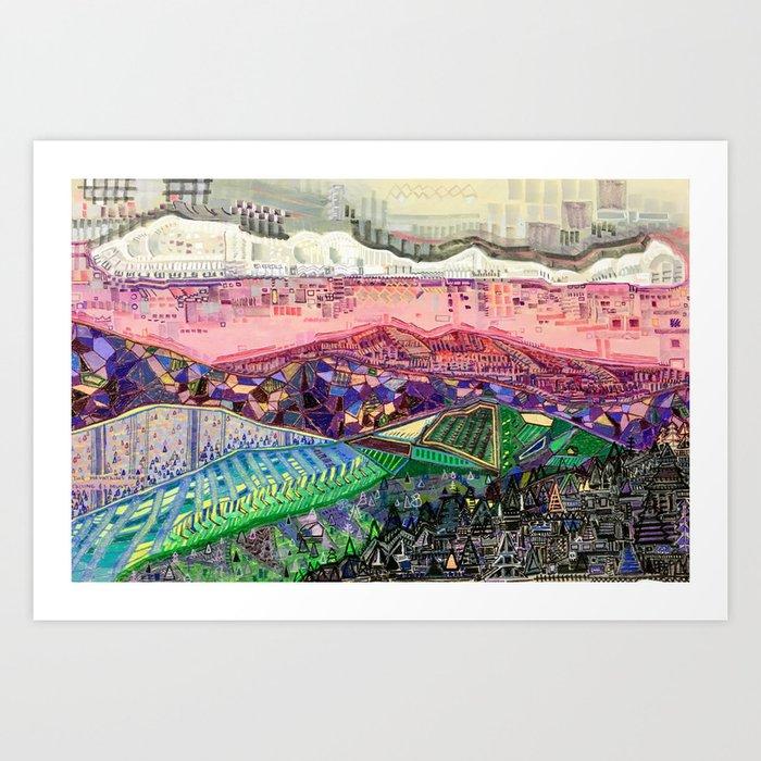 Big Mountians Art Print