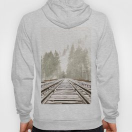 Railway in the forest Hoody