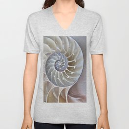 Nautilus Shell Unisex V-Neck