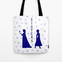 sisters Tote Bags featuring Sisters by BlackBlizzard