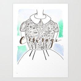 Courage Girl Art Print