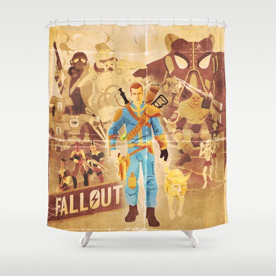 FALLOUT FAN ART Shower Curtain by Salty! | Society6