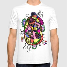 Doodle Fun White Mens Fitted Tee SMALL