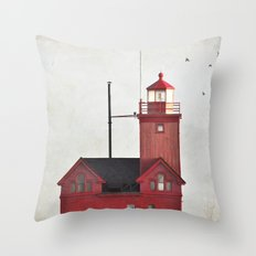 Light to a lost sailor Throw Pillow