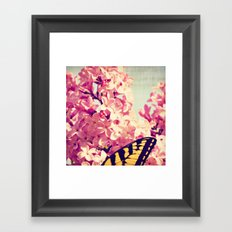 Lilac Monarch Framed Art Print
