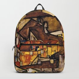 Egon Schiele - Krumau - Crescent Of Houses Backpack