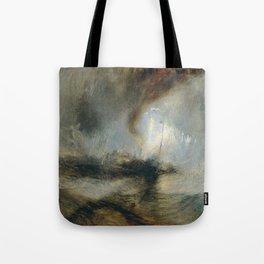 """Tempête de neige en mer """"Snow Storm - Steam-Boat off a Harbour's Mouth"""", William Turner, 1842 Tote Bag"""