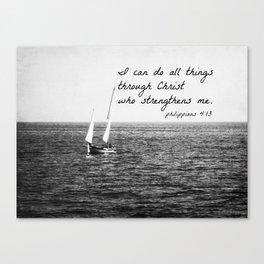 Philippians 4:13 Christ Canvas Print