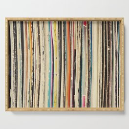 Record Collection Serving Tray