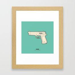 FAMOUS MOVIE WEAPONS - John McClane Framed Art Print