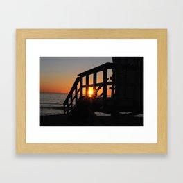 Sun Is On Fire Framed Art Print