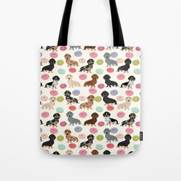 Dachshund weener dog donuts cutest doxie gifts for small dog owners Tote Bag