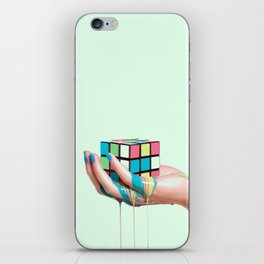 MELTING RUBIKS CUBE iPhone Skin