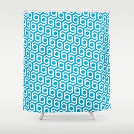 Modern Hive Geometric Repeat Pattern Shower Curtain
