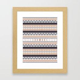 Boho Tribal Pattern Framed Art Print