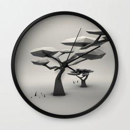 Peaceful Bonsai Wall Clock