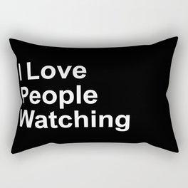 I Love People Watching Rectangular Pillow