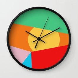 Circle Series - Summer Palette No.1 Wall Clock