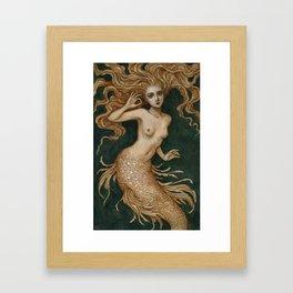Mermaid with a pearl Framed Art Print