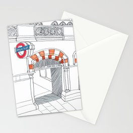 Underground in London Stationery Cards