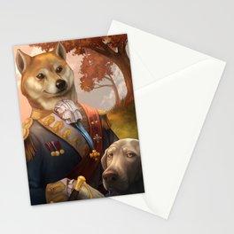 Royal Shiba Dog Portrait Stationery Cards