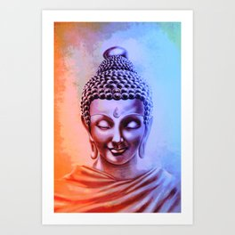 Gautama Buddha Abstract Art Print