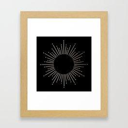 Sunburst White Gold Sands on Black Framed Art Print