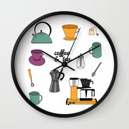 Coffee & Tea Wall Clock