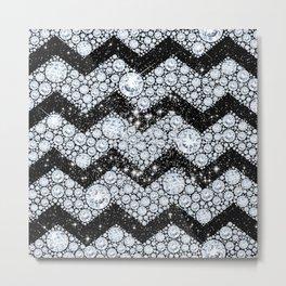 CHEVRON - Diamonds and Stars Metal Print