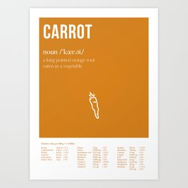 The Carrot - What's in it for me?! Art Print