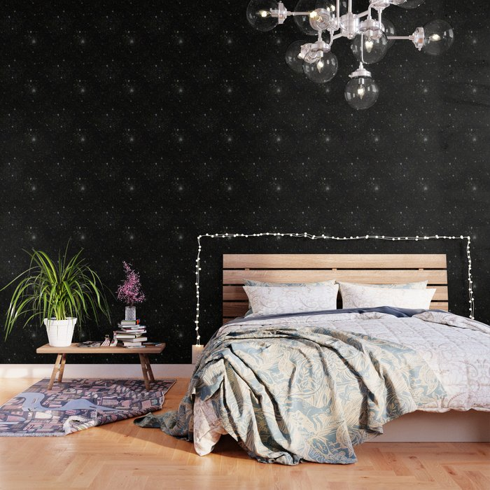 Universe Space Stars Planets Galaxy Black And White Wallpaper By Rosemarya Society6