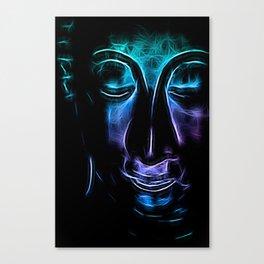Buddha Facial purpleblue Canvas Print