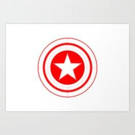 Capitaine Amérique Art Print