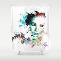 asia Shower Curtains featuring Asia by J. Ekstrom