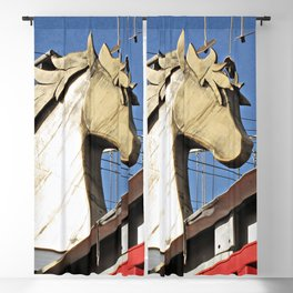 Horse of Another Color Blackout Curtain