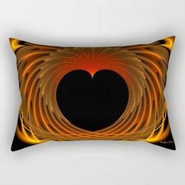 Dragon's Fiery Heart Rectangular Pillow