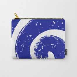 Blue and White Swirl I Carry-All Pouch