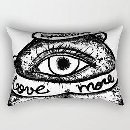 """Eyeless love more""bw Rectangular Pillow"