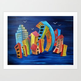 The Floating City Art Print