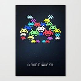invader boss Canvas Print