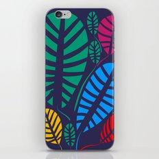 Jungle Night Pattern Floral Decoration iPhone Skin
