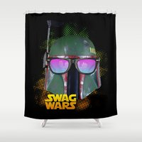 boba fett Shower Curtains featuring Boba Fett by Heretic