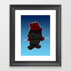 darth maul bear Framed Art Print