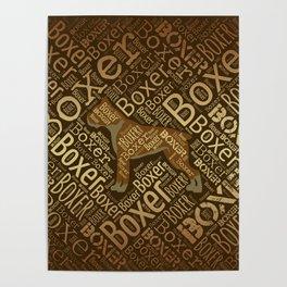 Boxer dog Word Art Poster