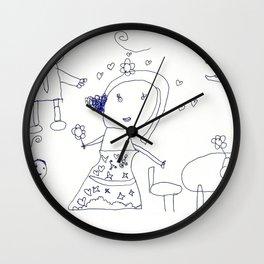 HAPPY FAMILY by Jasmine Wilkes Wall Clock