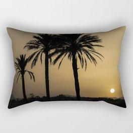 Santa Pola Sunset Rectangular Pillow