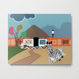 Ndebele Inspiration Vibes I Metal Print